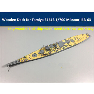 Wooden Deck for Tamiya 31613 1/700 Scale USS Missouri BB-63 Ship Model