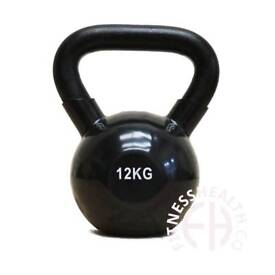 12kg Kettlebell with iron grip and PVC coated