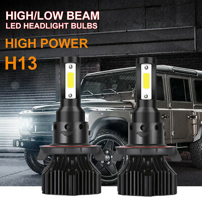 H13 9008 Cree Led Headlight Conversion Kit 1300W 195000Lm Hi Low Beam Bulb 6000K