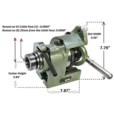 Brand New Vertical And Horizontal 5c Collet Spin Index Fixture