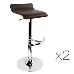 SALE:  2 x PVC Leather Cafe Kitchen Bar Stool Counter Height Gas Melbourne CBD Melbourne City Preview