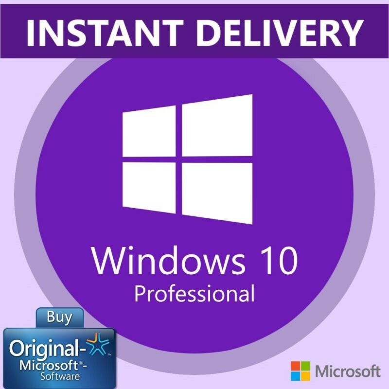 GENUINE WINDOWS 10 PROFESSIONAL PRO KEY 32 64 BIT ACTIVATION LICENSE PRODUCT KEY