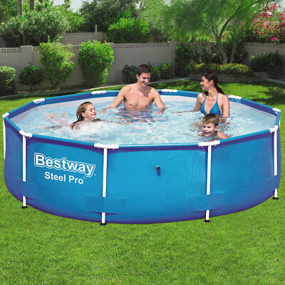 Piscina Steel Pro Frame Pool sin bomba de 305x76cm con estructura de...