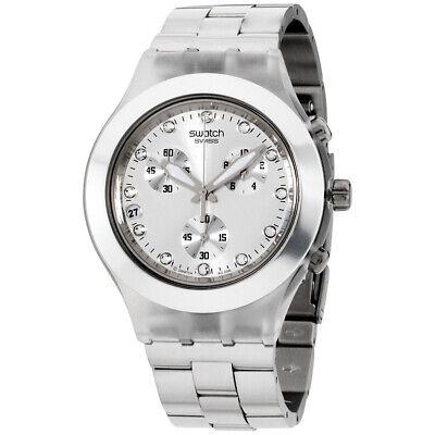 Swatch Irony Quartz Movement Silver Dial Unisex Watch SVCK4038G**Open Box**