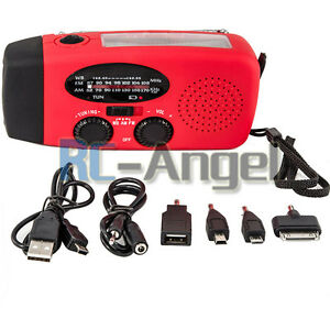 Emergency-Solar-Hand-Crank-Dynamo-AM-FM-WB-Weather-Radio-LED-Flashlight-Charger
