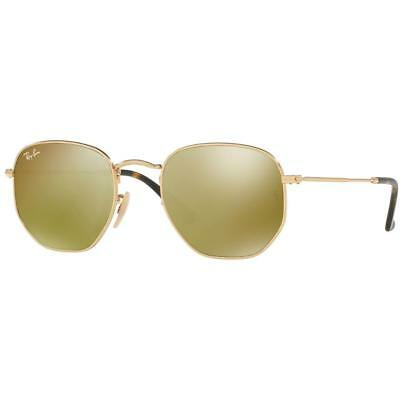 e06b686b224a3 Ray-Ban Sunglasses Hexagonal Yellow Mirror Lens - Gold Frame - RB3548N  001 93