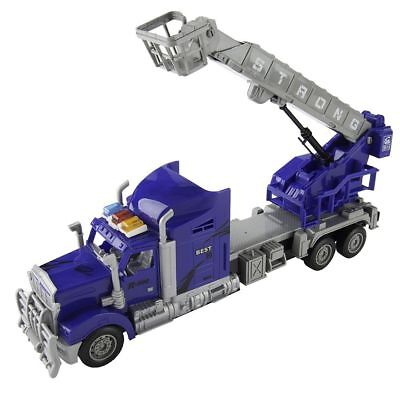 New Childrens Kids Remote Control Big Rig Fire Crane Truck Basket Vehicle Toys