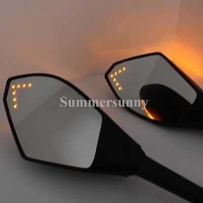 Motorcycle Led Mirrors For Yamaha YZF R6 1999-2009 R6S 2006-2009 R1 1998-2009 MT
