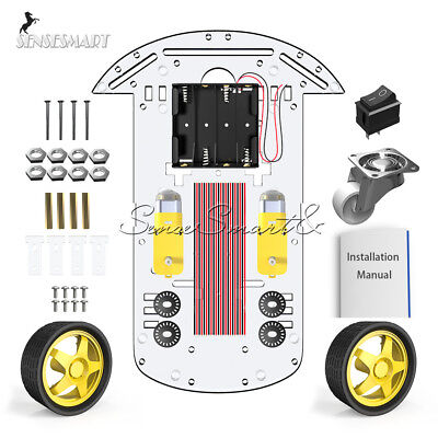2wd Smart Robot Car Chassis Kitspeed Encoder Battery Box 2 Motor 148 Arduino T