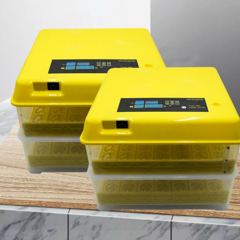 48/56/96/112 Eggs Digital Incubator Egg Hatcher Temperature Control Automatic