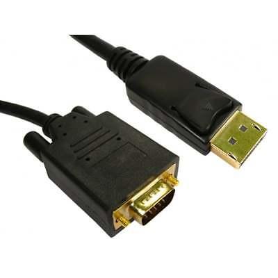 1m DisplayPort to VGA SVGA Cable Male to M Plug Monitor PC...