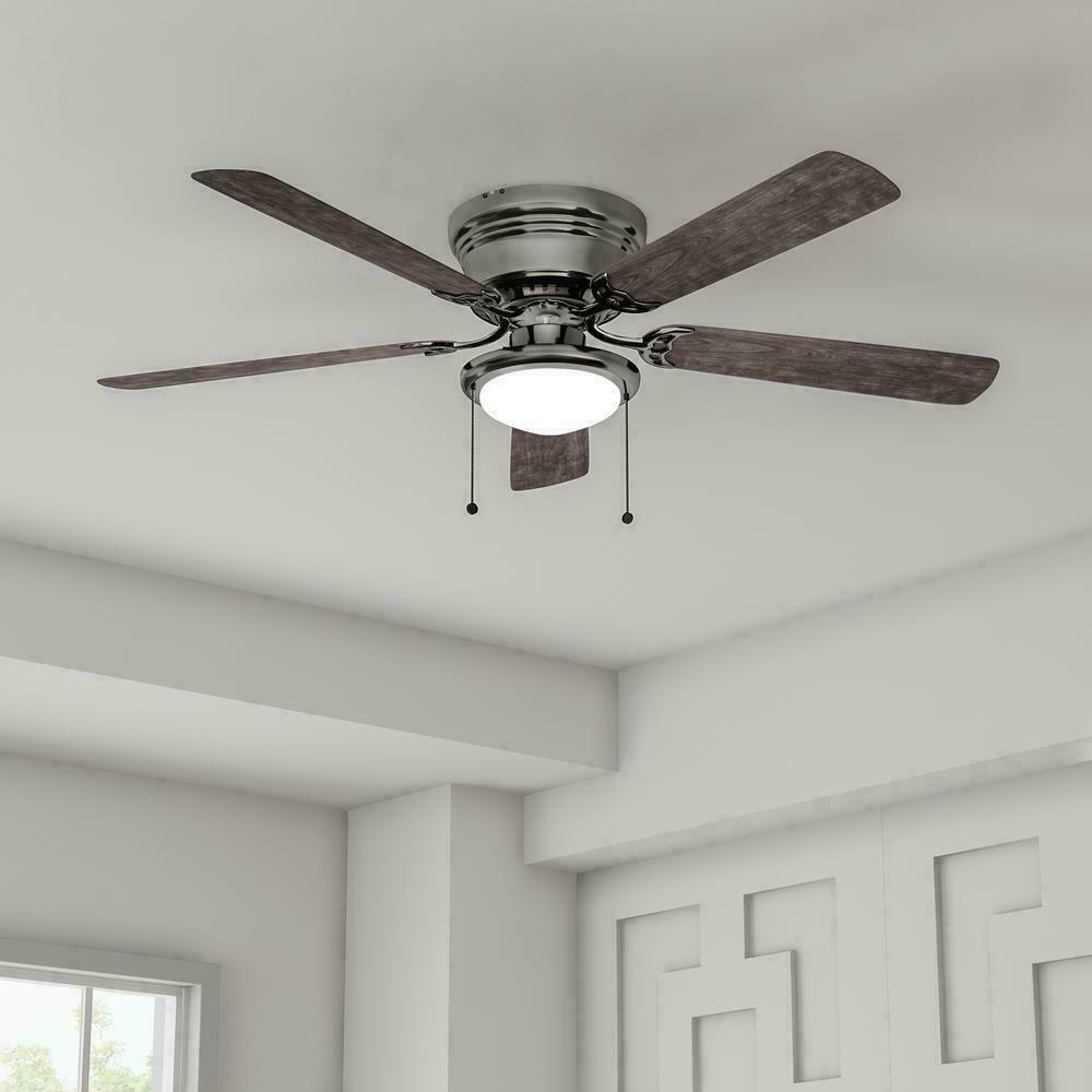 Ceiling Fan with Light Low Profile 52 inches Flush Mount Fro