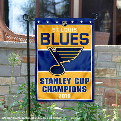 St. Louis Blues 2019 Stanley Cup Champions Garden Flag and Yard Banner - Yard Cup