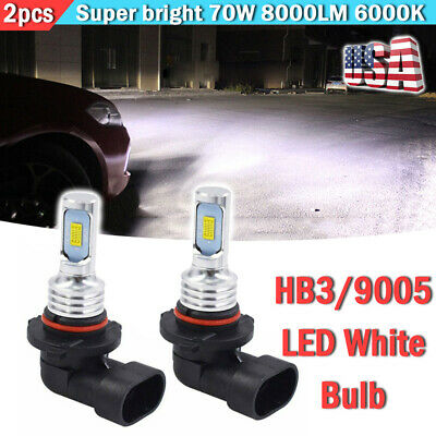 2x HB3/9005 LED Headlight Bulbs Kit High Beam 70W 8000LM 6000K White Fit Toyota