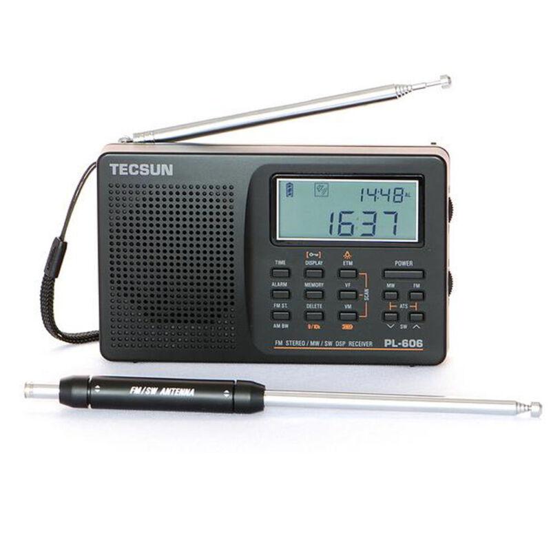 Tecsun PL-606 Digital PLL Portable FM Stereo/SW/MW Radio Receiver DSP s493