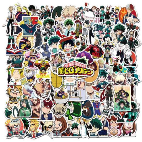 100pcs My Hero Academia Stickers Anime Set Sticker Katsuki Eijiro Shoto Ochaco