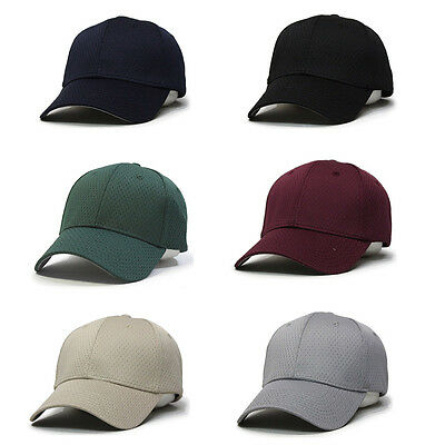 New Plain Pro Cool Mesh Low Profile Adjustable Baseball Cap Polyester Pro Mesh Cap