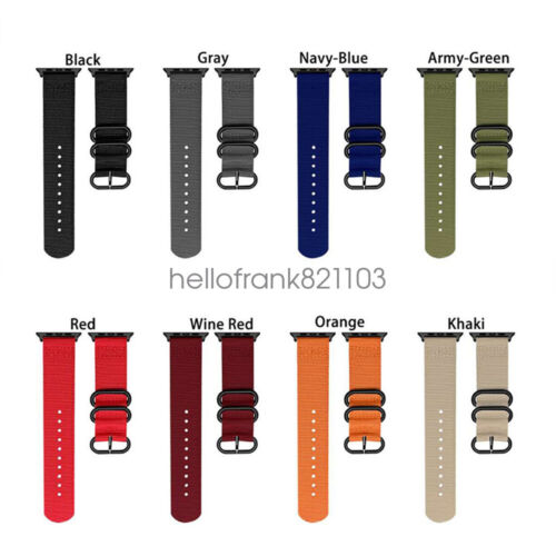 Military Sport Nylon Watch Band iWatch Strap For Apple Watch
