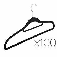 100 PACK VELVET HANGERS WITH TIE BAR Melbourne CBD Melbourne City Preview