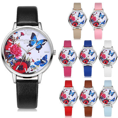Women Watches Floral Leather Jelly Sports Quartz Watches Dress Watches sy