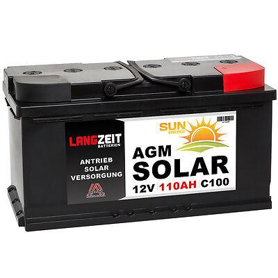 Solarbatterie 12V 110AH AGM GEL USV Batterie Boot Schiff Wohnmobil 90Ah 100Ah gebraucht kaufen  Mannheim