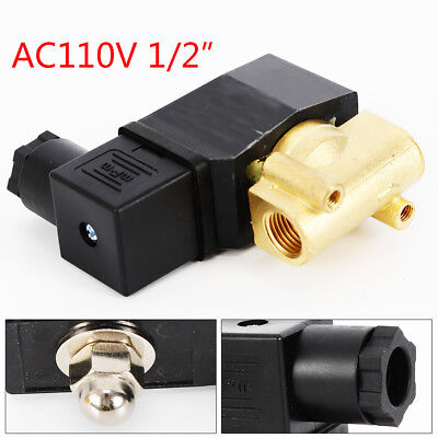 12 Brass Electric Solenoid Valve Npt Normally Closed Ac110v For Water Air Gas