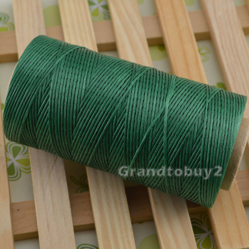 284yards 19 Colors 0.8mm Sewing Leather Waxed Thread Cord Leather Craft Green