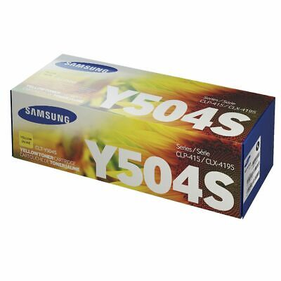 Genuine Samsung CLT-Y504S / CLTY504S Yellow Toner for CLP-415 CLT-C504 CLX-4195