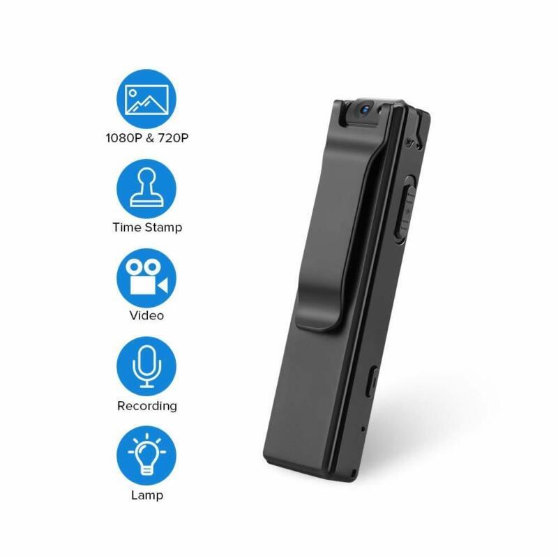 BOBLOV 1080P Mini Body Cameras with Audio Wearable Video Rec