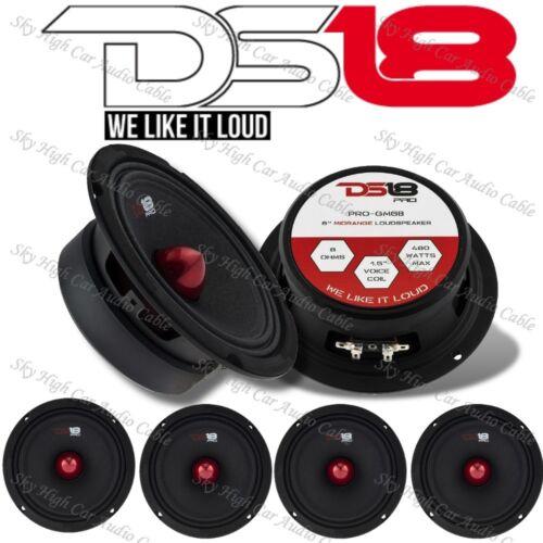 "4) DS18 PRO GM6B 6.5"" Midrange Speaker 1920w Max 8ohm Pro audio (Set of 4)"