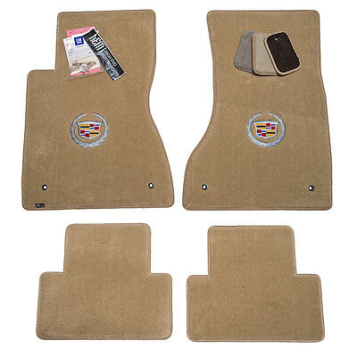 2006 2007 Cadillac CTS & CTS-V Floor Mats - Cashmere - Crest Logos - In Stock