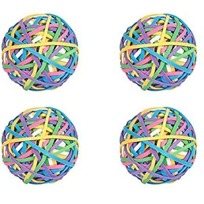 4 Rolls 200 Pcsroll Elastic Rubber Band Balls Rainbow Colorful Stretchable For