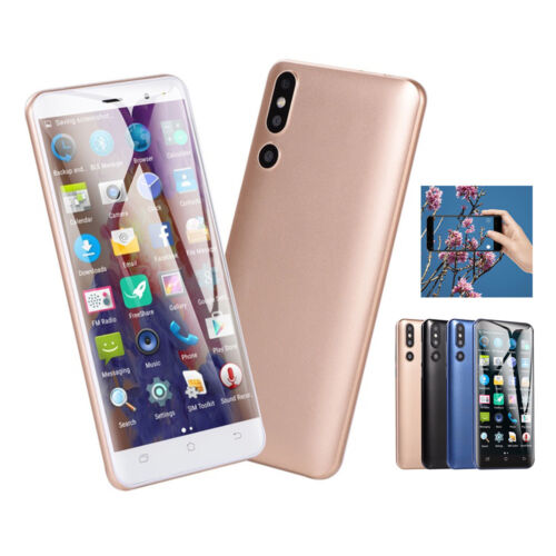 """Android Phone - Cheap Unlocked 5"""" Android 6.0 Mobile Smart Phone 4 Core Dual SIM WiFi GPS Gold"""