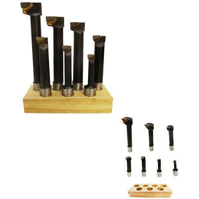7pc 1 Shank Bore C6 Carbide Tip Boring Bar Set