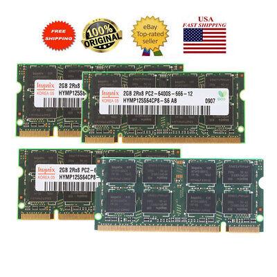 2GB 4GB 8GB PC2-6400s 666-12 Laptop Memory RAM/DDR2 800MHz Intel A++ QUality USA