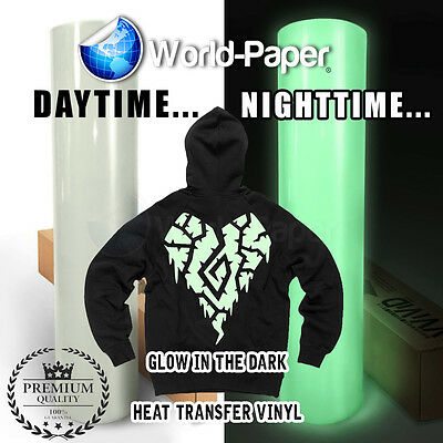 Heat Transfer Vinyl - Glow In The Dark 15 X 1 Foot Htv Roll