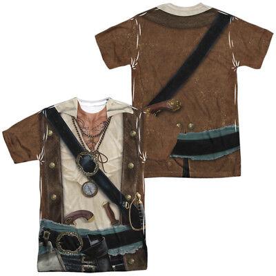 PIRATE COSTUME Adult Men's Graphic Tee Shirt SM-3XL Halloween
