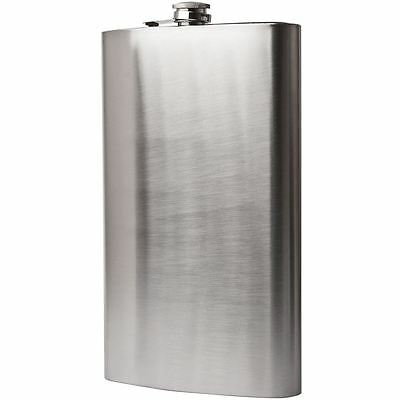 Giant Hip Flask 30cm Stainless Steel Holds 3 Pints Huge 1.9L Big Large Best Gift