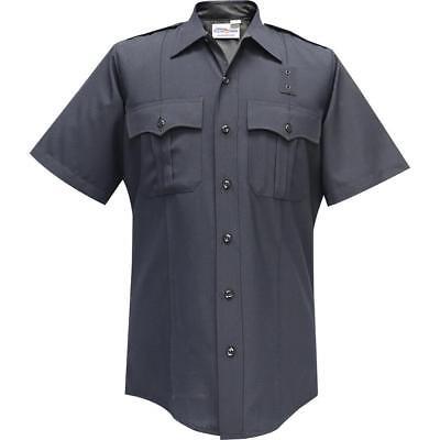 Emt Uniform - Flying Cross Men's Short Sleeve Uniform Shirt 100% Polyester_Police_Fireman_EMT