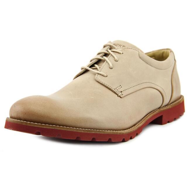 Rockport Colben Men Round Toe Leather Tan Oxford