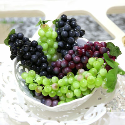 Grape Decor - 22~85pcs Bunch Lifelike Artificial Grapes Plastic Fake Fruit Food Home Decor