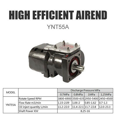 10-20 Hp Oil Injected Ynt55a High Efficiency Screw Compressor Air End Pump