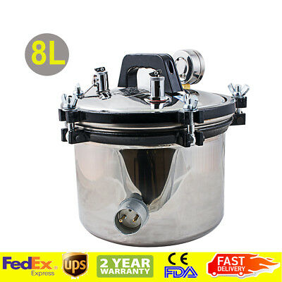 High Pressure Steam Sterilizer Medical Dental Tattoo Autoclave Sterilization110v