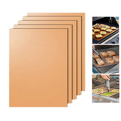 BBQ Copper Grill Floor Mat Heat Conductive Pads Non-Stick Reusable Sheet Kitchen