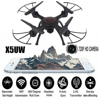 X5UW 2.4G Wifi FPV RC Quadcopter W/ Remote Control HD Camera Drone Helicopter LK