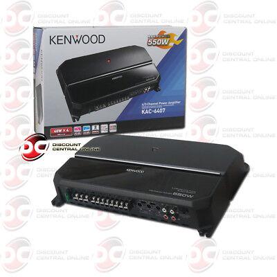 Kenwood Kac 6407 Car Audio 4 Channel Class Ab Amp Amplifier 130W Rms