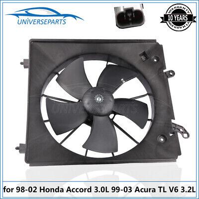 LH Driver Side Radiator Cooling Fan for 98-02 Honda Accord Acura 01-03 Acura TL Honda Cooling Fan