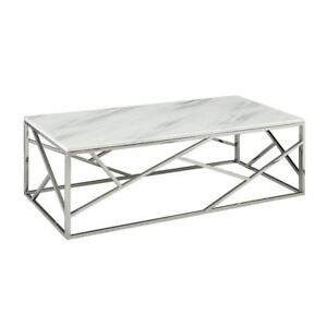 WHITE TABLE - MODERN STYLE - MABLE TOP | CALL 905-451-8999 OR VISIT ONLINE FOR MORE GREAT DEALS (BD-234)