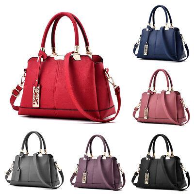 (Fashion Women Lady Leather Satchel Handbag Shoulder Tote Messenger Crossbody Bag)