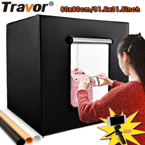 Travor 31.5*31.5in 80*80cm Dimmable Tent Photo Studio Lighting softbox Folding